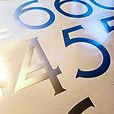 Craftsman Style Die Cut Vinyl Numbers (2 inch Metallic Silver Gray)