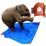 """CHILL GORILLA SAND PROOF POCKET BLANKET 78"""" x 56"""". Ideal for Beach, Travel, Hiking, Camping, Festivals. Compact, Lightweight, Water Resistant. Corner Pockets, Loops. FREE Carabiner. Eno Accessory"""