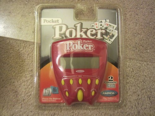 Wingsmarketshop Radica Pocket Poker Draw and Duces Pocket Game Handheld Work Tested Great (Plastic Cracked) (Necklace Dollar Sign Jumbo)