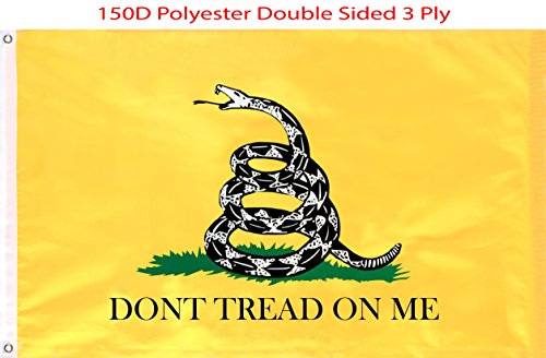 G128 Gadsden Flag Don't Tread On Me Flag 3x5 FT Double Sided