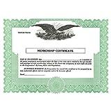 Short Form Membership Certificate - Pack of 100
