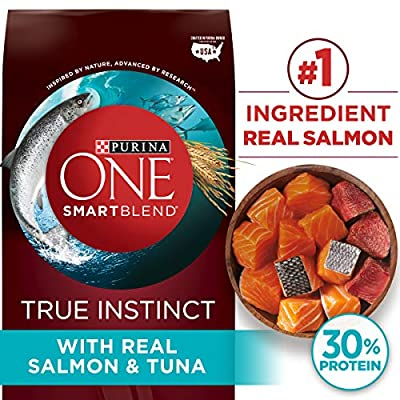 Purina ONE High Protein Natural Dry Dog Food, SmartBlend True Instinct With Real Salmon & Tuna - (4) 3.8 lb. Bags
