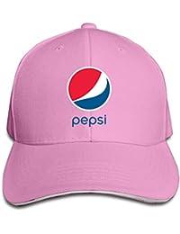 Unisex Pepsi Logo Adjustable Snapback Baseball Hat Ash One Size 05c4970e6cc6