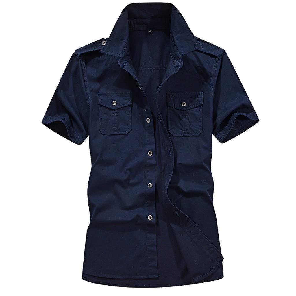 Bleu Foncé 3XL Trydoit T-Shirt Ample à Manches Courtes à Manches Courtes