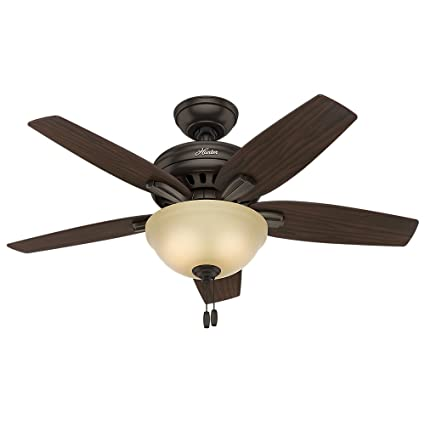 hunter fan company 51087 newsome ceiling fan with light 42 small rh amazon com