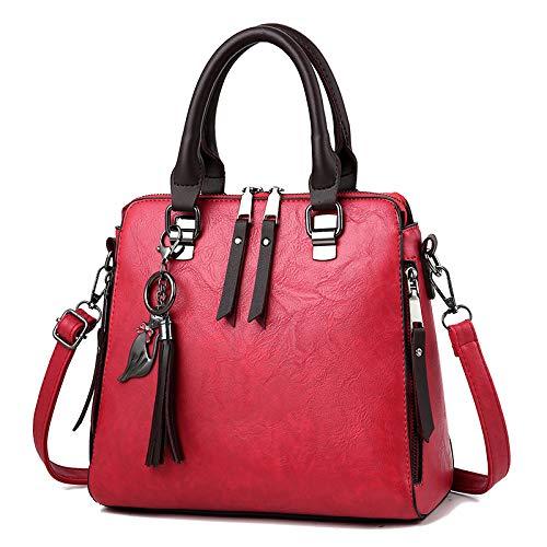Capienza Red Hardware Lijinjing Grande Di Tracolla Ciondolo Moda E Pelle In Da Con Borsa Donna 66zxwgOfq