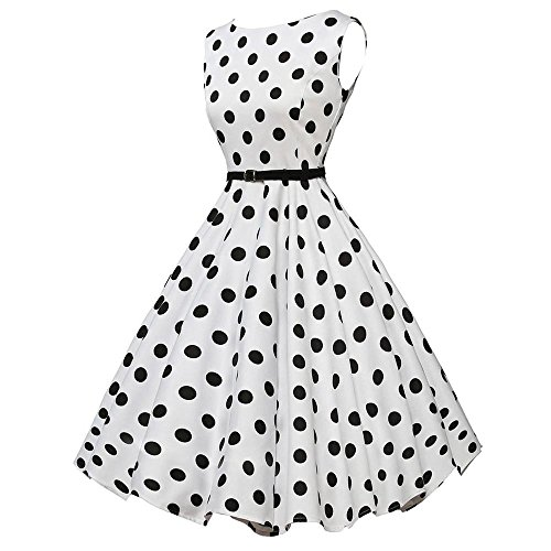 Dresses for Womens,DaySeventh Women Vintage Bodycon Sleeveless Casual Retro Evening Party Prom Swing Dress