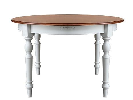 Tavolo rotondo bicolore in legno: Amazon.it: Casa e cucina
