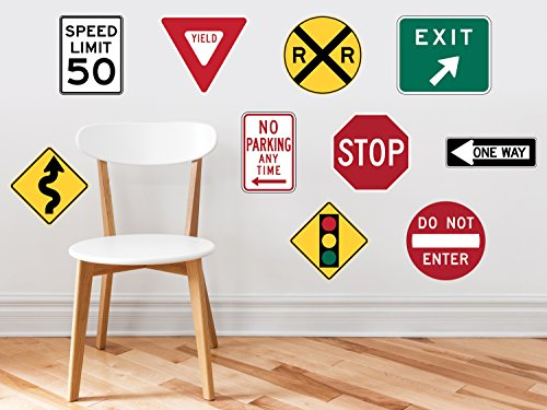 Sunny Decals Street Signs Fabric Wall (Road Traffic Sign)