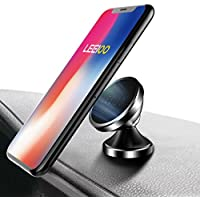 Leeioo Universal Magnetic Car Mount - Ultra-Compact 360° Rotation Phone Holder Dashboard Mount for iPhone X / 8 / 8 Plus / 7 / 7 Plus / 6s / Pixel 2 / Galaxy S8 / S7 / S6 / Light Tablets and more
