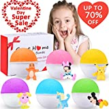 Bath Bombs For Kids Surprise Toy Inside 6 Fun Colorful Fizzy Bath Bombs Great Home Kids Bath Bombs Set Gender Neutral Boys & Girls Best Birthday Holiday Gifting Idea for kids teens Reviews
