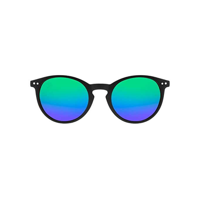 c8ab508cbd HOOK Gafas de Sol Unisex Montura Negra Rubber Goma Espejo Azul y Verde  UV400 Protección Bali Verde: Amazon.es: Ropa y accesorios