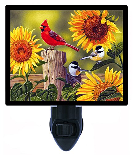 (Night Light, Sunflowers and Songbirds, Cardinal, Chickadee)