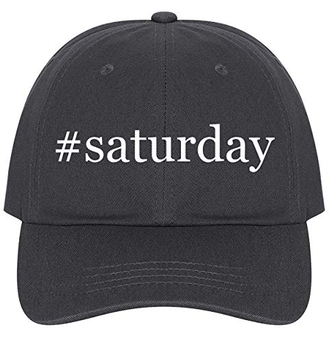 The Town Butler #Saturday - A Nice Comfortable Adjustable Hashtag Dad Hat Cap, Dark Grey