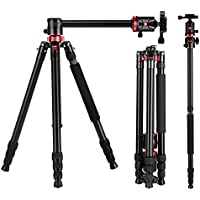 Zomei Camera Tripod Portable Magnesium Aluminium Monopod Professional Tripod With Ball Head Quick Release Plate for Canon Nikon Sony DSLR Cameras DV Black