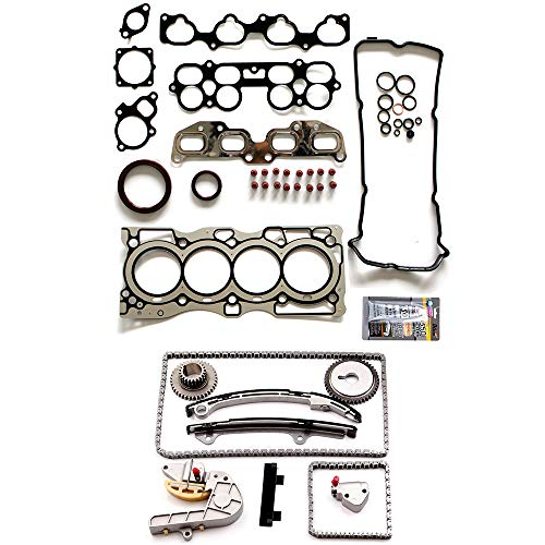 OCPTY Timing Chain Kit for Nissan Altima Nissan Sentra 2.5L 02 03 04 05 06 Gaskets Kit Head Gasket Set - Chain Cylinders