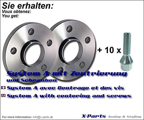 20mm Spurverbreiterung 5x120 NLB 72,6mm 10mm pro Seite inkl Schrauben