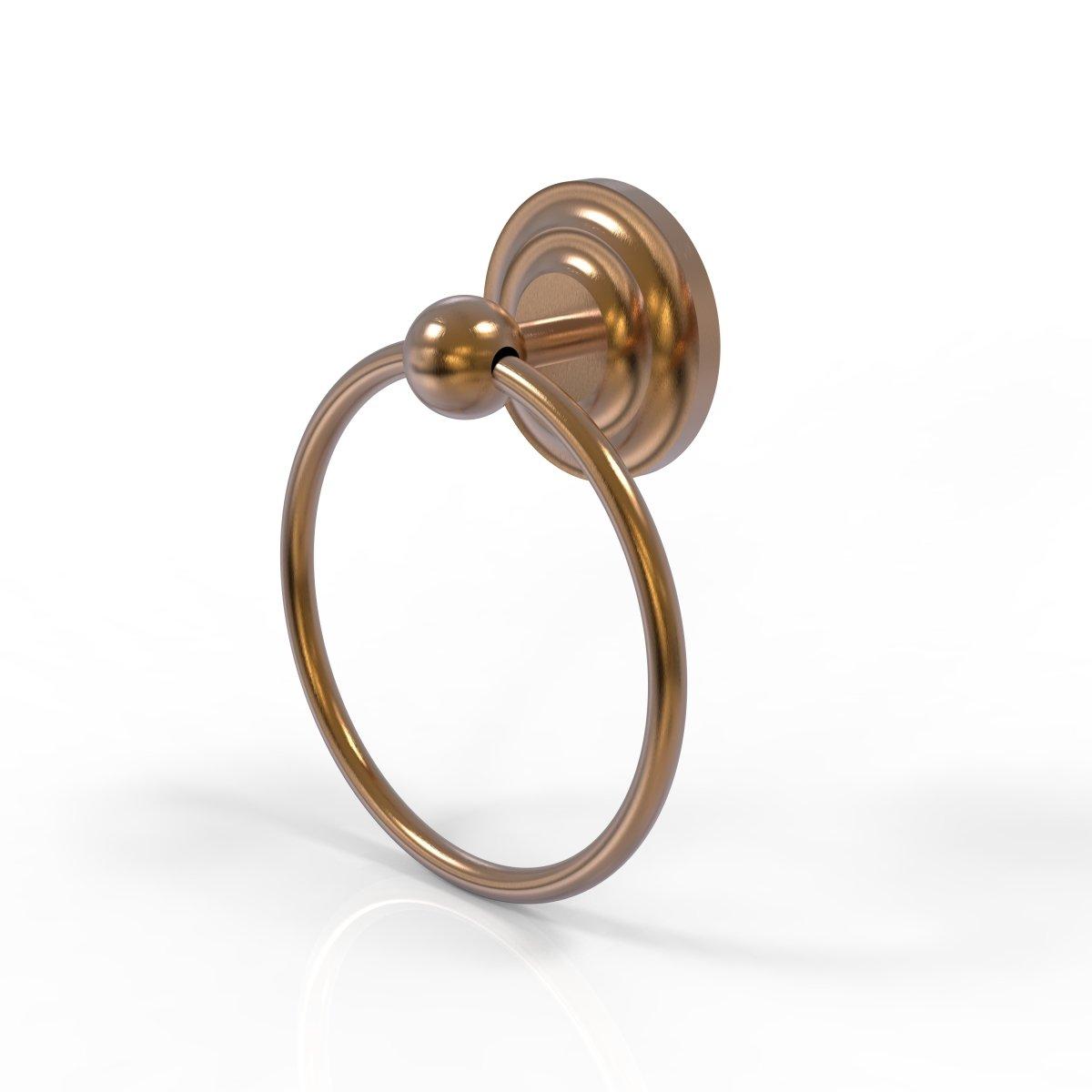 Allied Brass QN-16-BBR 15cm Towel Ring, Brushed Bronze B003XRQDLCブロンズ