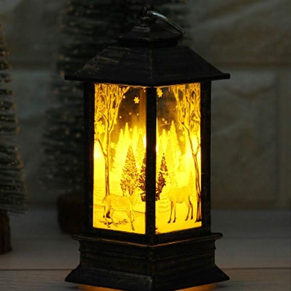 Prevently Weihnachten Lichter, Weihnachten Lichterkette Licht Simulation Flammenlicht Kleine Öllampe für Weihnachten Hallowee