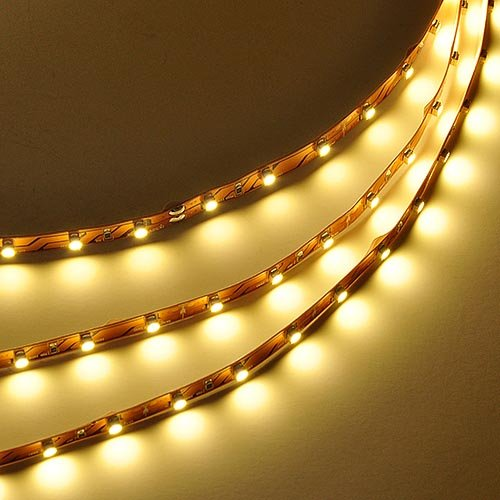 LEDwholesalers 16.4 Feet (5 Meter) Modifiable LED Light Strip with 300xSMD3528 and Adhesive Back, 12 Volt, Warm White 3100K, 2026WW-31K