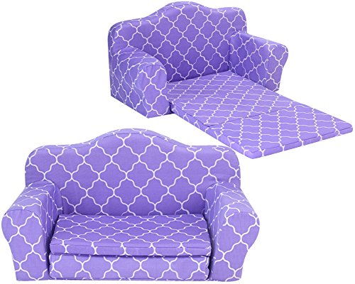 Sophia's Doll Furniture Pull Out Sofa Bed Purple Plush Couch for Dolls Converts to Double Bed (Doll Sofa Life My)