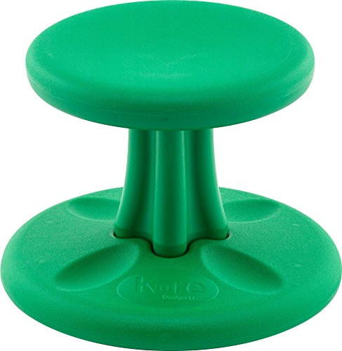 Antimicrobial Stool - Kore Wobble Chair - Flexible Seating Stool for Toddlers, Age Range 2-3, Now with Antimicrobial Protection - Green (10in Tall)
