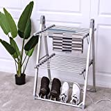 MD Group 2-Tier Foldable Multifunctional Aluminum Stand Electric Dryer