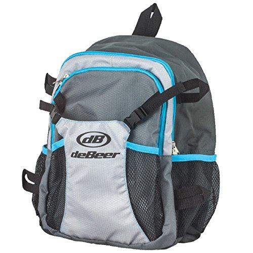 deBeer Lacrosse Backpack Bag Grey and Blue