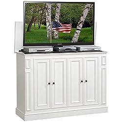 TVLiftCabinet Harbor TV Cabinet, White