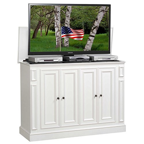 TVLiftCabinet Harbor TV Cabinet, White