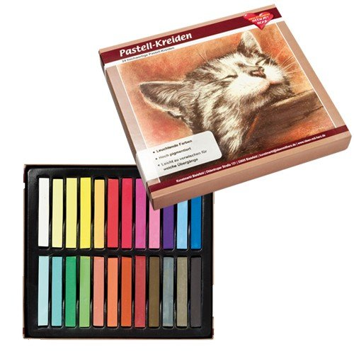 24 Premium Pastel Chalk Crayons in Bright Colours, Highly Pigmented | Studio, Art, Projects, Arts, Crafts, DIY Ideen mit Herz