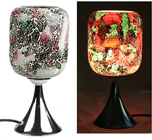 Kendal Electric Mosaic Oil Wax Warmer Fragrance Lamp with Dimmer (3-Red-Green)