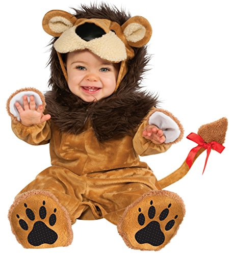 [Rubie's Costume Cuddly Jungle Lil Lion Romper Costume, Golden, 6-12 Months] (Cuddly Lion Baby Costumes)