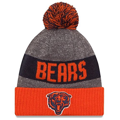 Chicago Bears Cuffed Pom Sport Knit by New Era New Era Winter