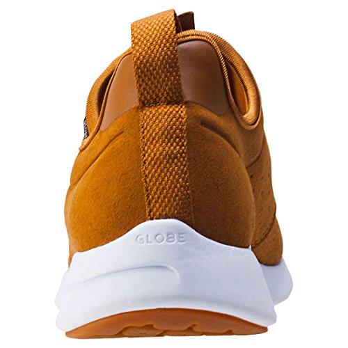 Zapatos Globe Dart Lyte Caramel-blanco