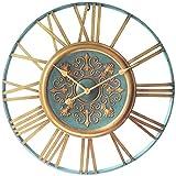 Infinity Instruments Parisian Gold Clock, Turquoise