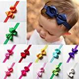 DoMii Newborn Baby Girl Bows and Headbands Infant Bowknot Flower Nylon Headbands for Photography 358-bows20