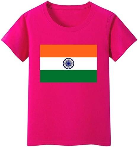 Daqin Bandera India Bandera De Manga Corta Niños Y Niñas ...