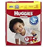 Huggies Baby Diapers, Snug & Dry, Size 5 (Over 27 lbs), Case of 4/25s (100 ct) Image