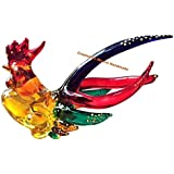Handmade Mini Glass Chicken Art Glass Blown Bird Animal Figurine - Model Y2017
