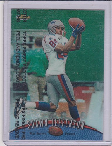 1998 Topps Finest Refractor Shawn Jefferson Patriots Insert Football Card #113