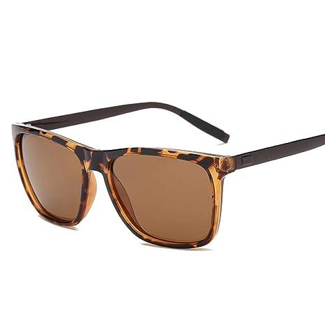 Carsge Gafas de Sol polarizadas para Hombres Gafas de Moda con Montura de Metal Rectangular Protección UV400 Gafas de Sol Gafas de Sol Deportivas para ...
