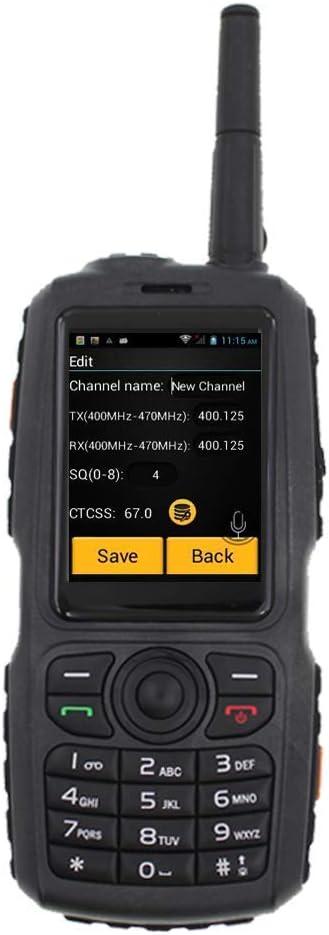 Walkie Talkie Smartphone, WCDMA/gsm 3G Radio IP67 Teléfono Móvil A ...