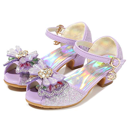Girls High Heel Sandals Size 2.5M Purple Big Kid Girls for sale  Delivered anywhere in USA