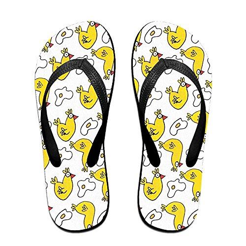 (Classical Flip Flops Sandy Flat Thong Sandals Chicken And Eggs Beach Slipper)