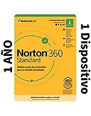 Norton 360 Standard - Software Antivirus para 1 Dispositivo con VPN, Copia de Seguridad de 10GB para PC, Control Parental [Windows, MacOS, Android, iOS] [Edición de América Latina y Caribe]