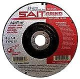 United Abrasives 6'' 60X Grit Z-X Sait Zirconium Premium Closed Coat PSA Disc
