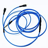 NEW NEOMUSICIA Replacement Cable Compatible with Sennheiser HD25 HD 25-1 HD25-1 II HD25-13 HD25-C Headphone - Remote Volume Control Mic Compatible with Apple iPhone iPod ipad iOS only Blue