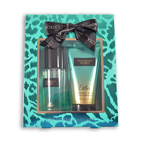 Victoria's Secret 2.5 Fl Oz Fragrance Mist & Lotion Gift Set – Packaging Varies Slightly (Exotic)
