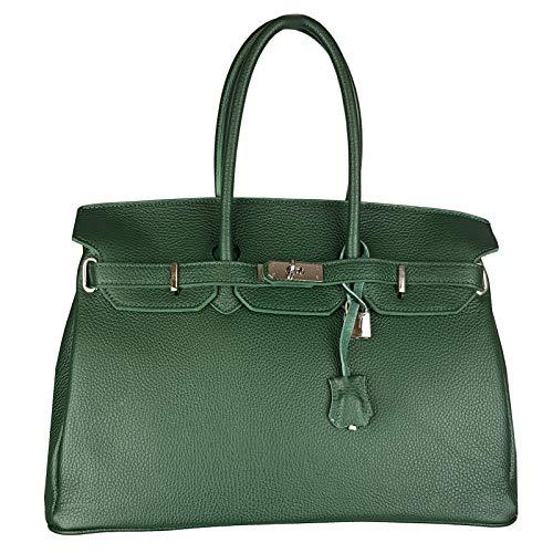 Pelle Made Qualità Da Italy Fg Vera Alta f In G Verde Donna Borsa Fq1AXf